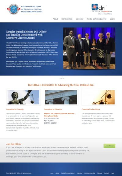 Custom Content Management and Member Management System for Georgia Defense Lawyers Association