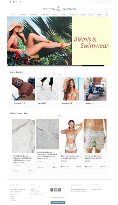 Marina & Carrara WordPress eCommerce Website Design