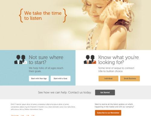 Elm3 Financial Services Website Design