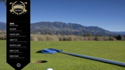 Mountain View Golf Course Website Design