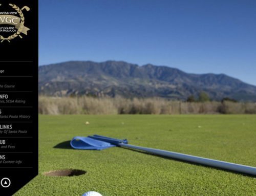 Mountain View Golf Course Website Design