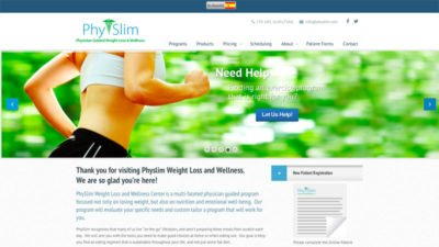 Physicians Assisted Weight loss Healthcare Website Design