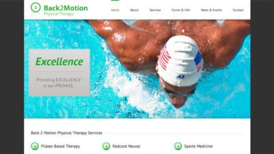 Responsive Website Design - Back 2 Motion Physical Therapy