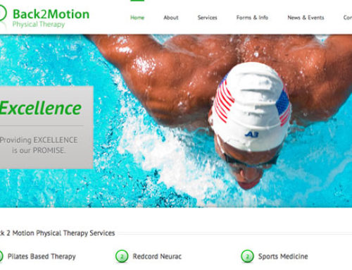 Responsive Website Design – Back 2 Motion Physical Therapy