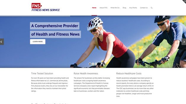 Website Design - Fitness News Service Johns Creek
