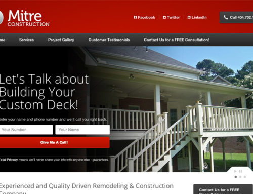 Website Design Atlanta Construction Company Responsive Website