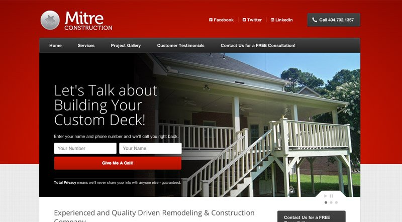 Website Design Atlanta Construction Company Responsive Website