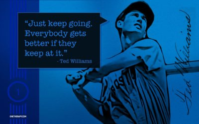 Ted Williams Inspirational Quote Desktop Background Design