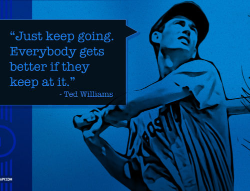 Ted Williams Inspirational Quote Desktop Background