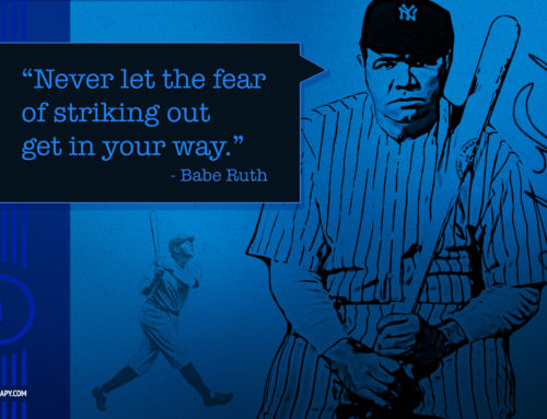 Babe Ruth Inspirational Quote Desktop Background Design