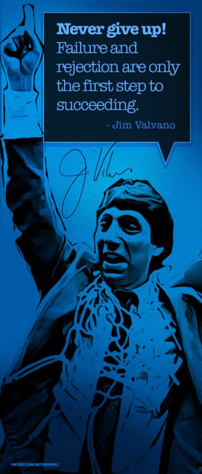 Jim Valvano Inpirational Quote Infographic Design