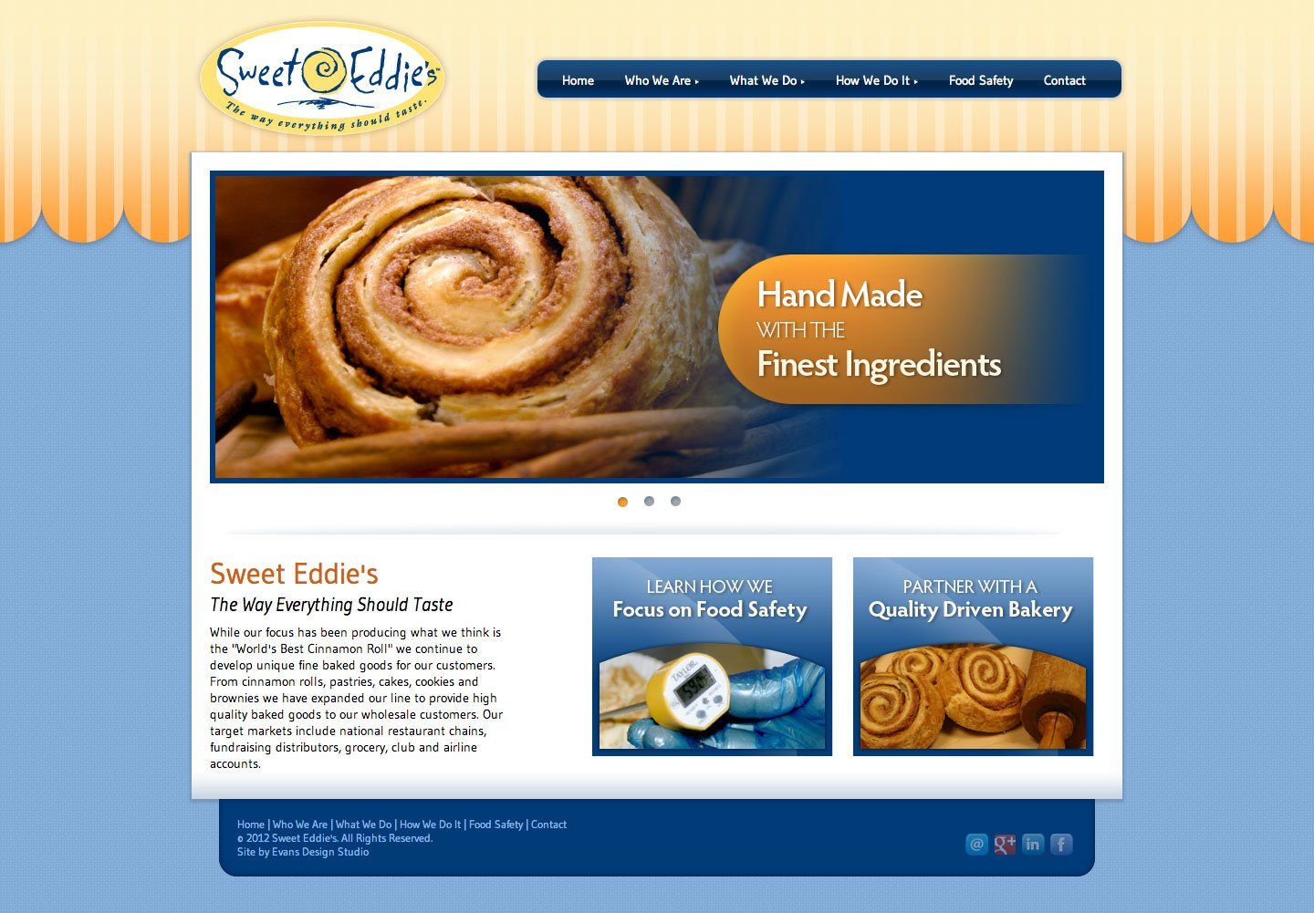 Sweet Eddie's Commercial Bakery Website Design