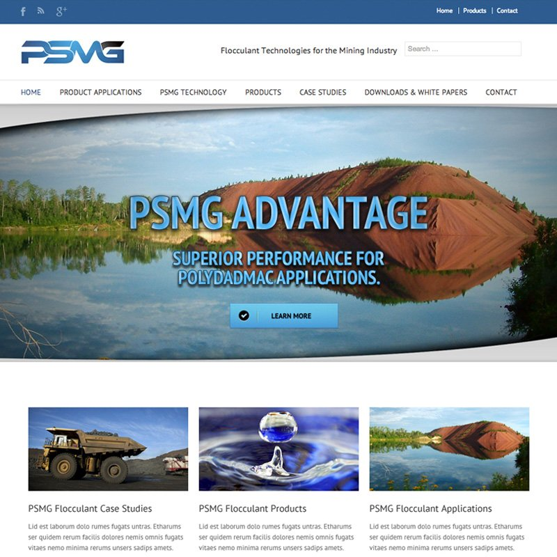 Website Design for Johns Creek Company