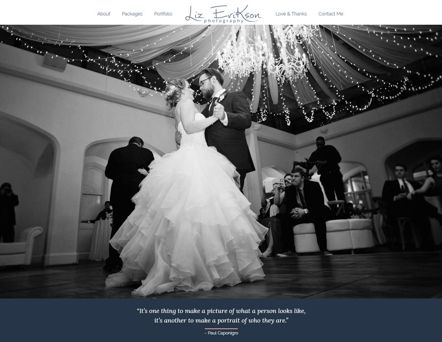 Custom WordPress Website Design for Atlanta Photogrrapher Liz Erikson