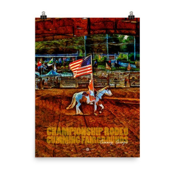 Championship Rodeo Poster - Cumming City Poster Series - Original Art by Chip Evans