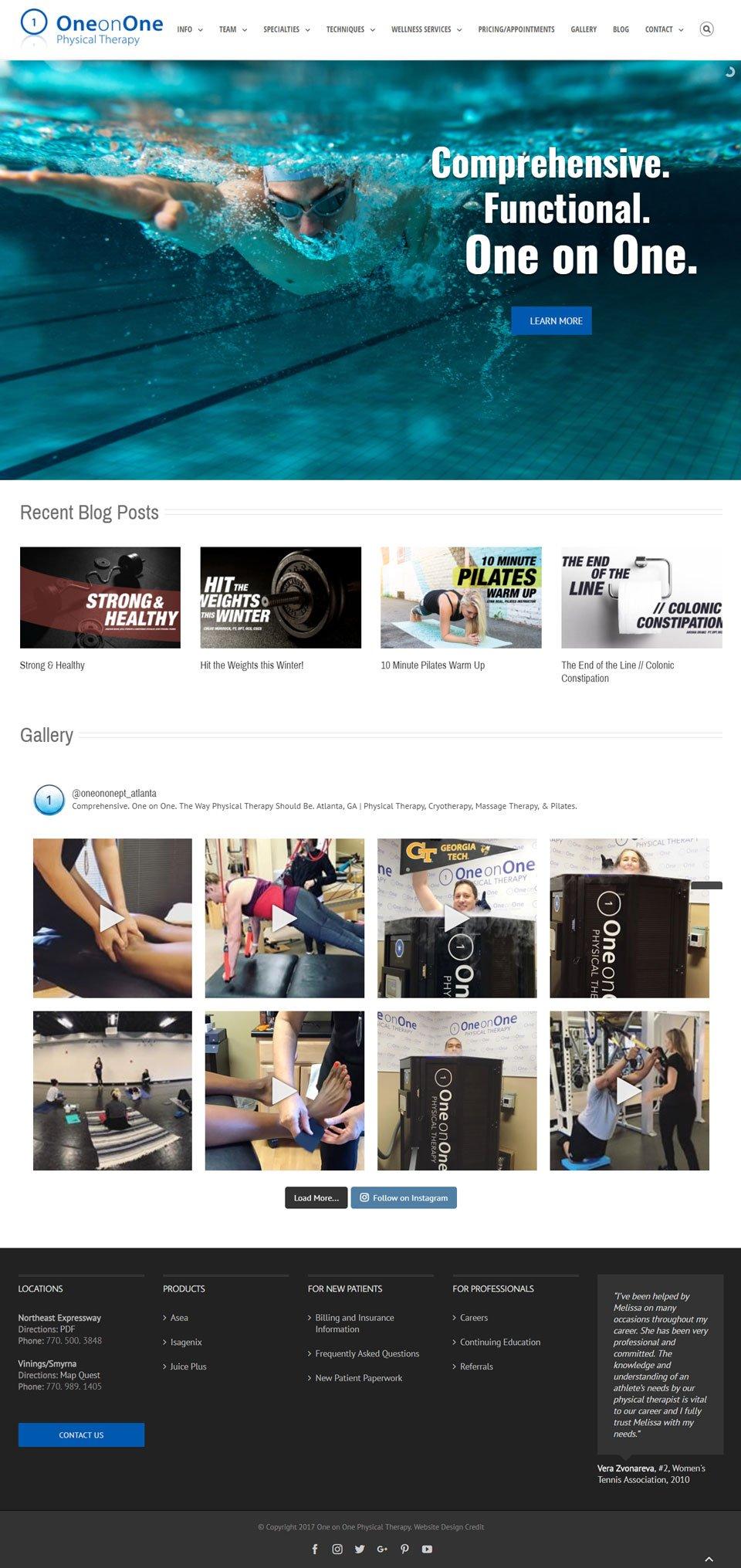 Atlanta Physical Therapy Website Design by Evans Design Studio