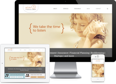 Alpharetta Small Business Accounting Firm Website Design - Elm3 Financial Services Website