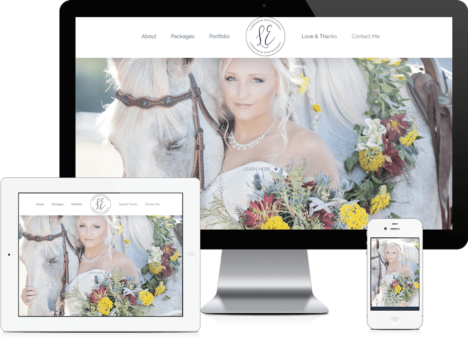 Alpharetta Small Business Website Design - Elizabeth Erikson Photography