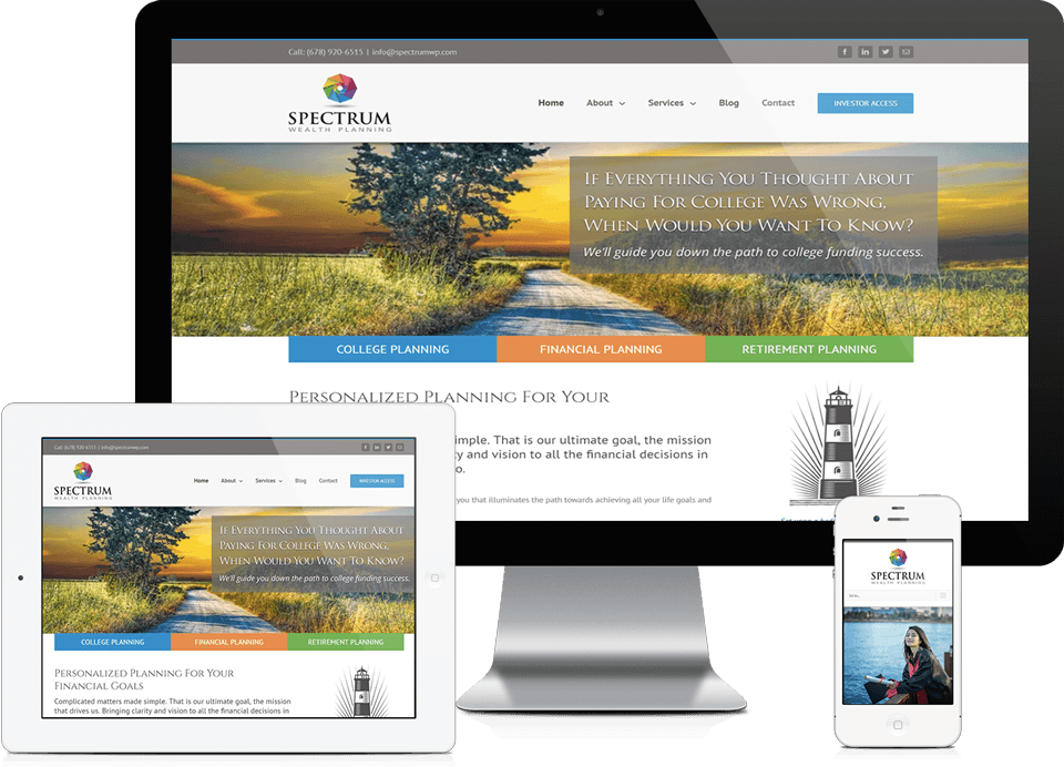 Johns Creek Financial Services Company Website Design