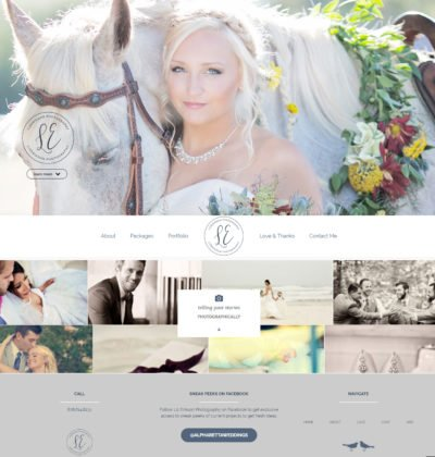 Alpharetta Wedding Photographer Website Design
