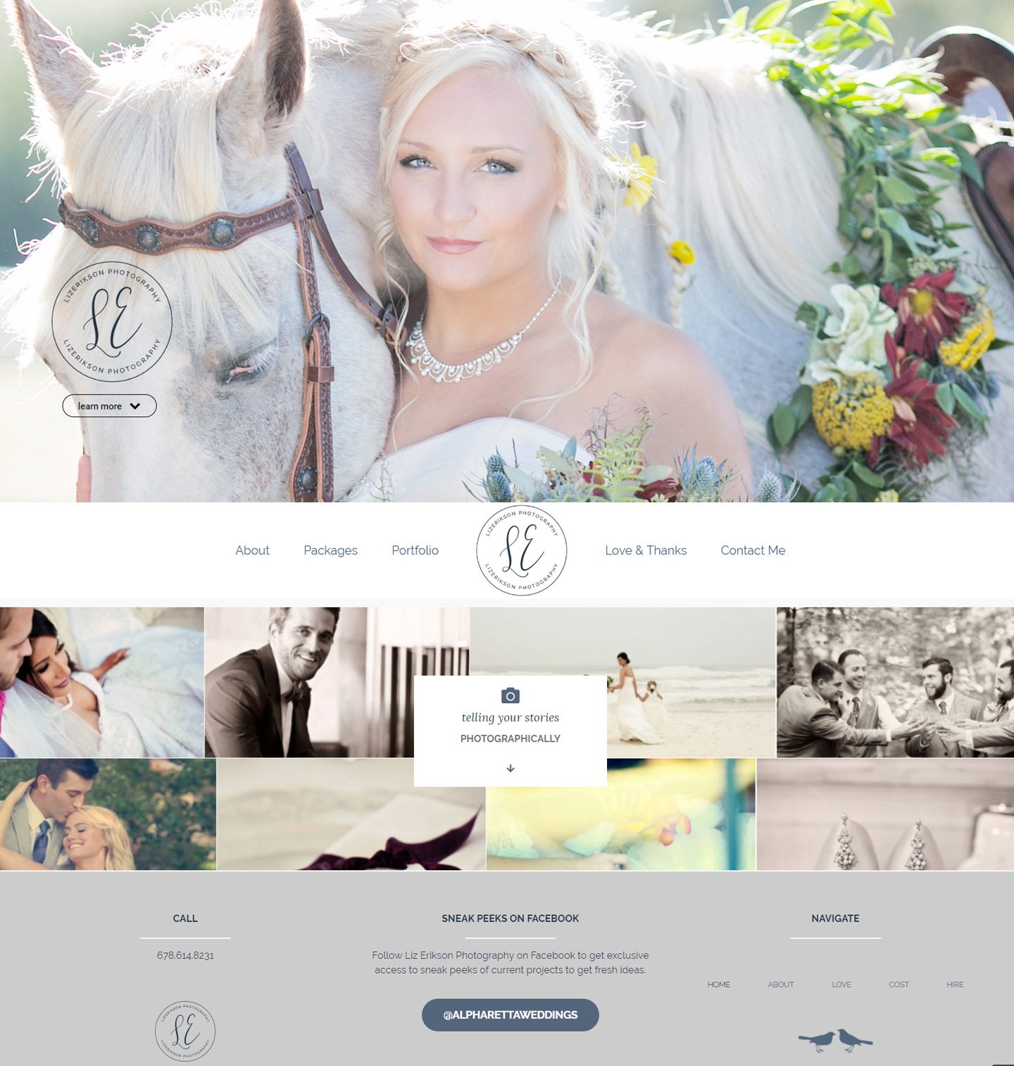 Alpharetta Small Business Website Design - Liz Erikson Photography