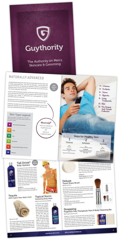 Guythority Product Catalog Design