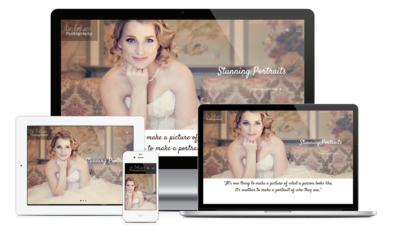 Small Business Website Design - Elizabeth Erikson Wedding Photographer Website