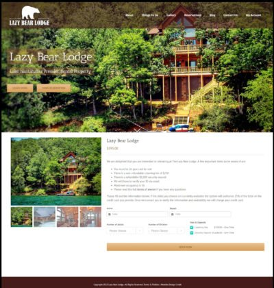 Responsive E-Commerce Property Rental Website Design using WordPress and Fusion Page Builder