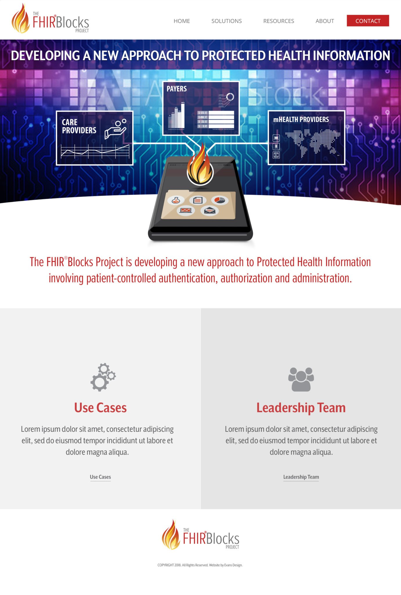 FHIR Blocks Healthcare Website Design