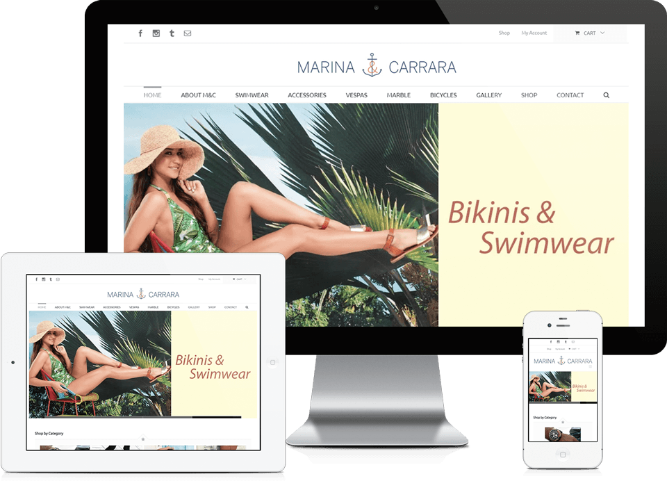 Responsive Ecommerce Website Design - Miami E-Commerce Company Marina & Carrrara