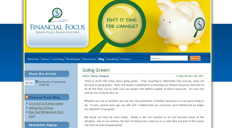 Financial Focus Website