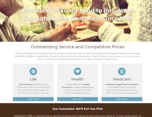 Hurst Insurance Company Website Design – Atlanta Logo Design