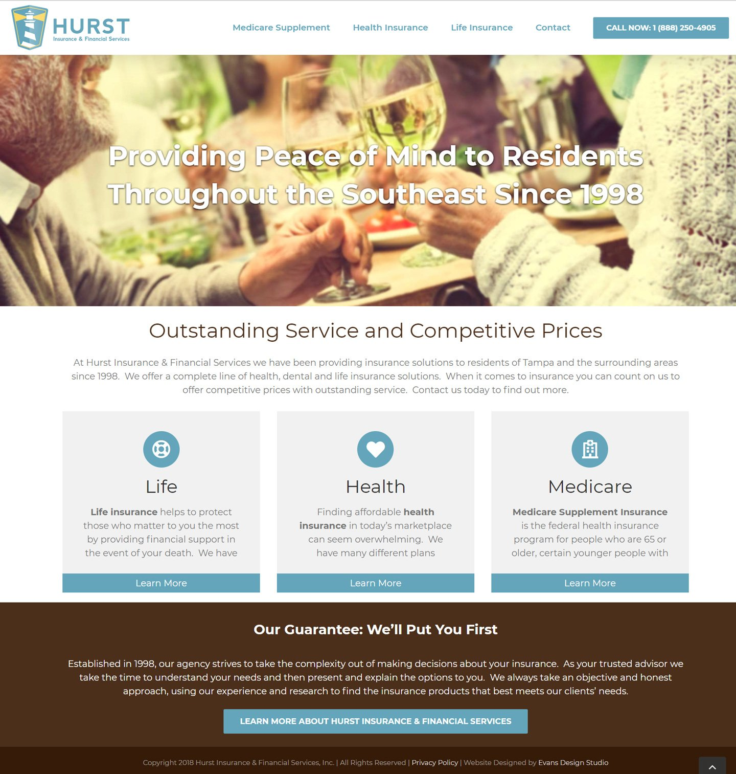 Hurst Insurance & Financial Services Website Design
