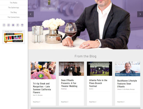 Atlanta Event Planner Website Design – Sean O'Keefe