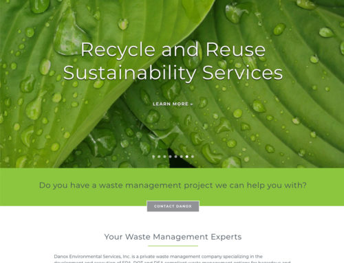 Waste Management Company Website Design