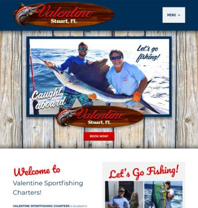 E-Commerce Website Design for Deep Sea Fishing Charter Boat