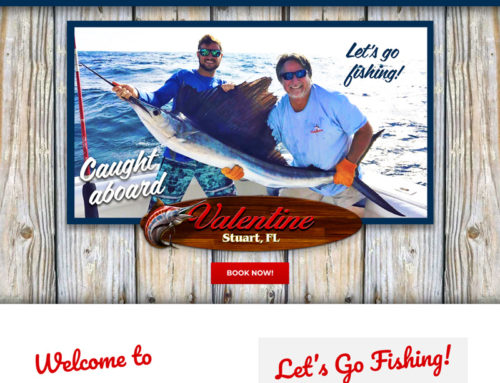 Deep Sea Fishing Charter Website Design