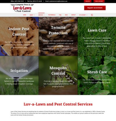 Florida Pest Control Company Website Design