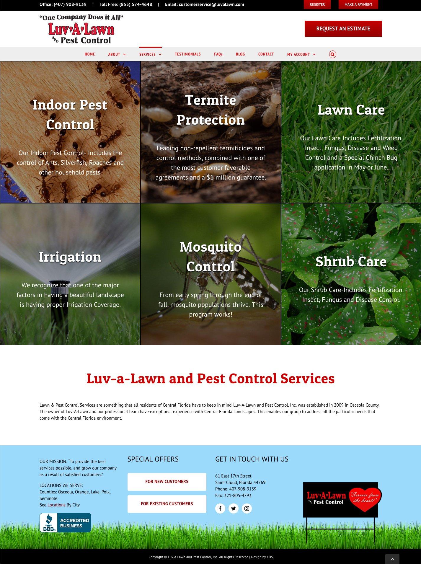 Responsive Website Design for Florida Pest Control Company