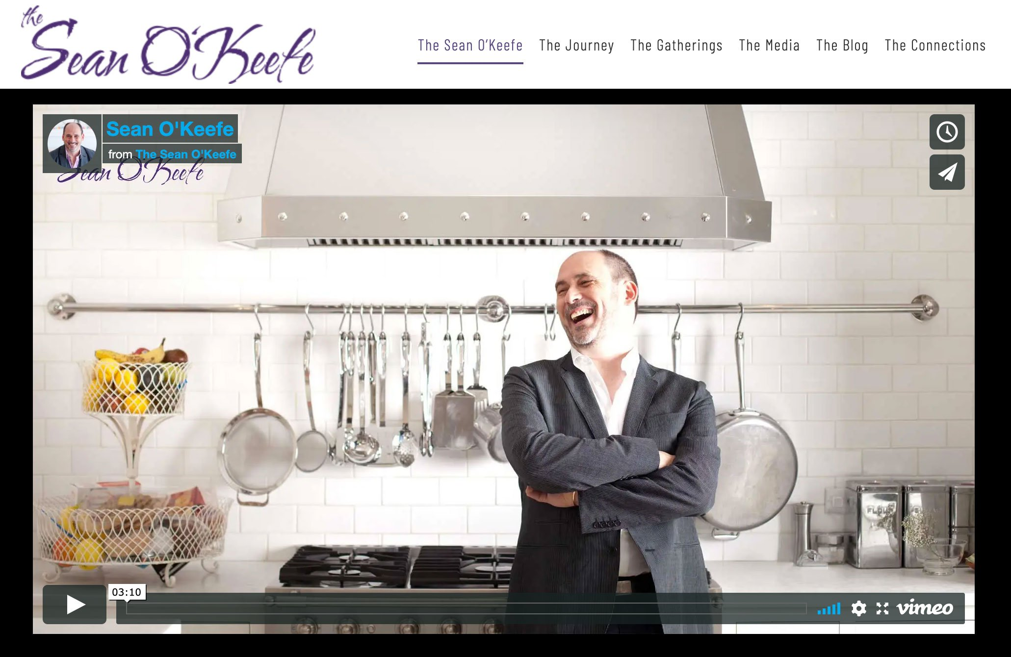 The Sean O'Keefe website gives users the full experience