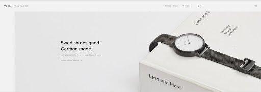 Verk's Superb Website Design Concentrate's on Function