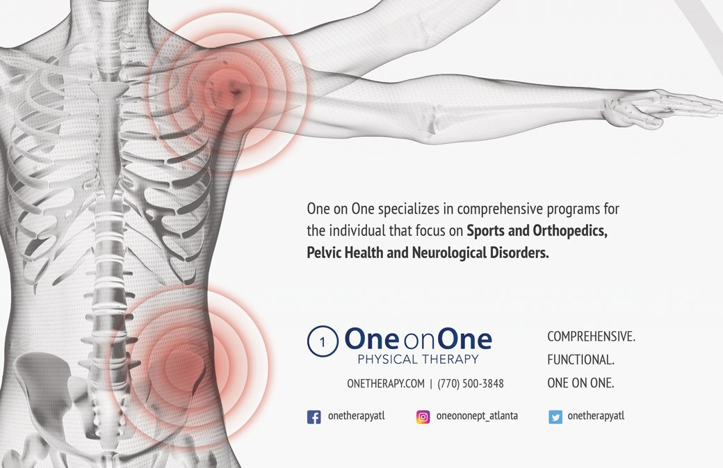 Print Advertising Design for One on One Physical Therapy in Atlanta