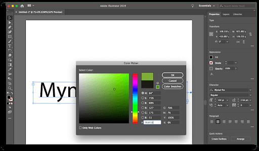 Adding Color in Illustrator