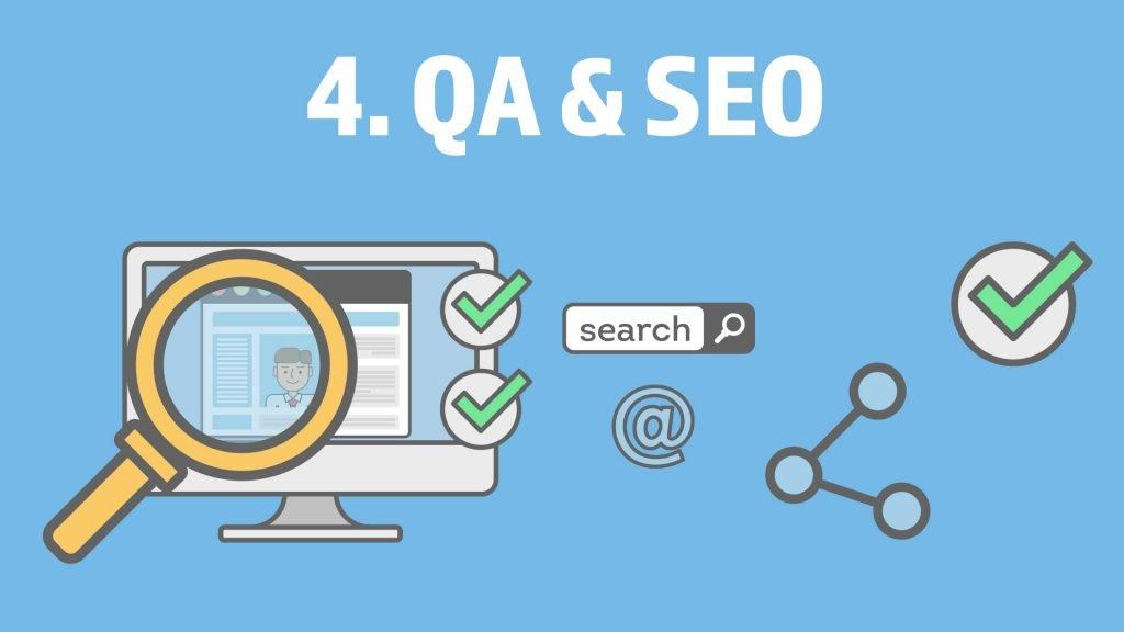 Website Design Project Step 4. QA & SEO