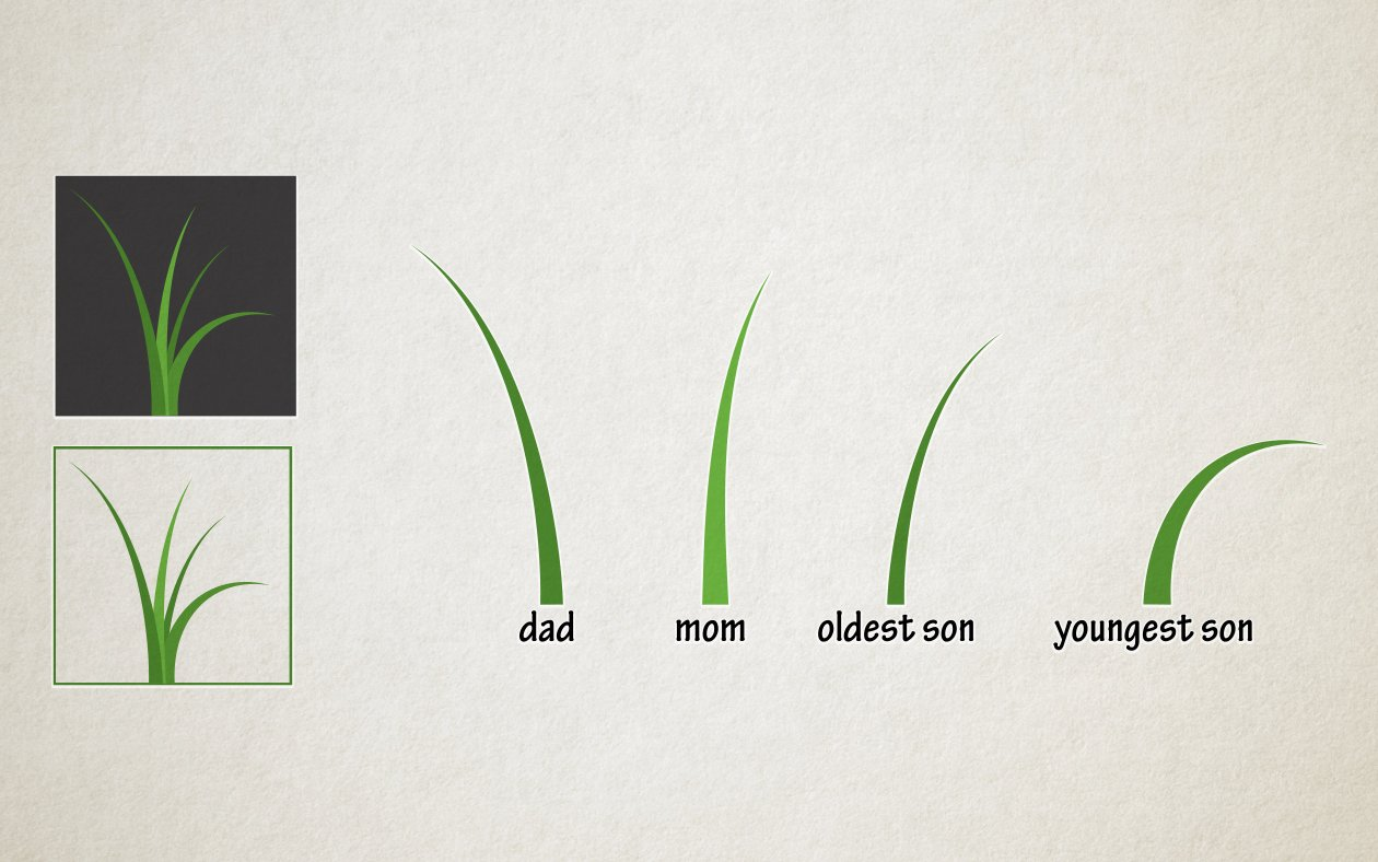 Meaning of Tall Grass Homes Logo - Each blade of grass represents a member of the family owned business.