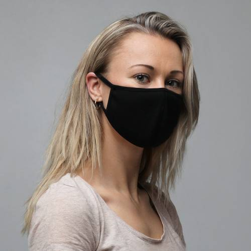 Plain Black Face Masks (3 Pack)