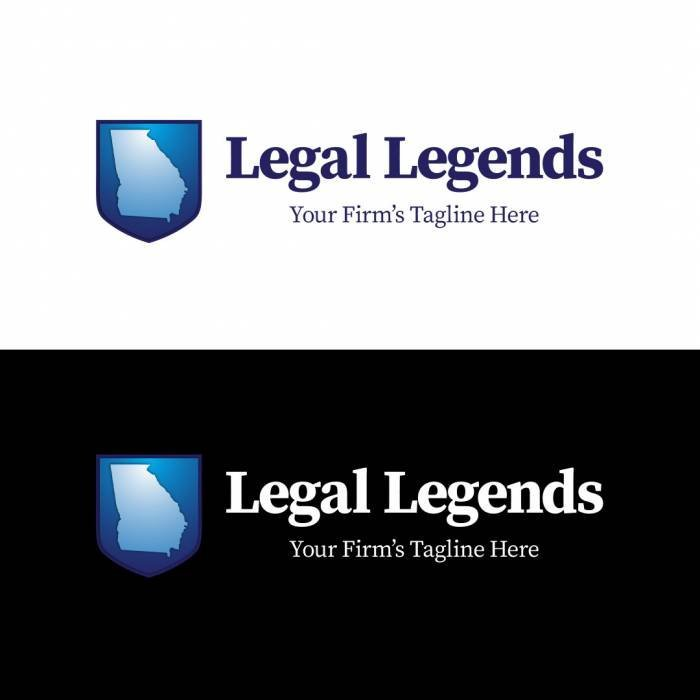 Georgia Shield Legal Logo Horizontal Color