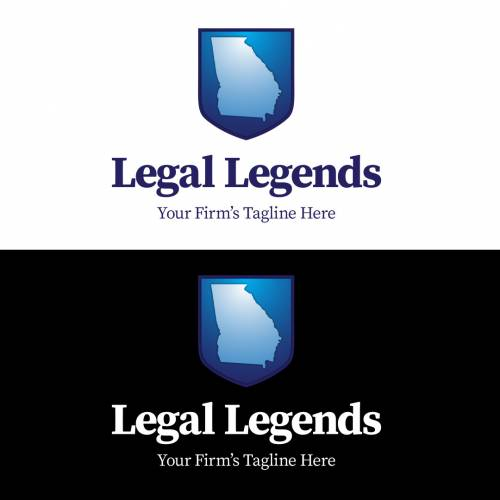 Georgia Shield Legal Logo Vertical Color