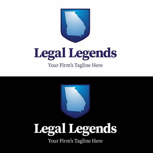 Georgia Shield Legal Logo Vertical Color