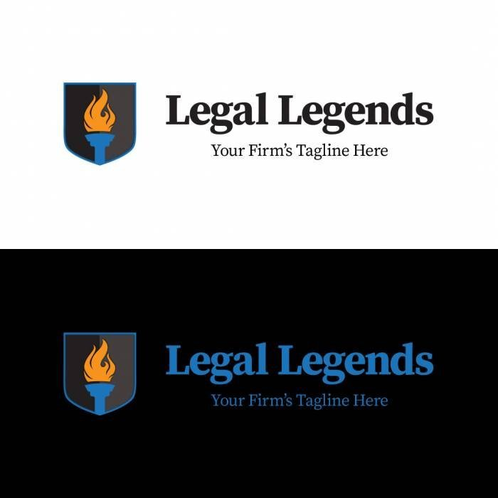 Torch Shield Legal Logo - Horizontal Color Logos